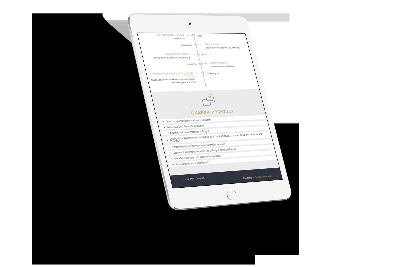 Aperçu site iPad